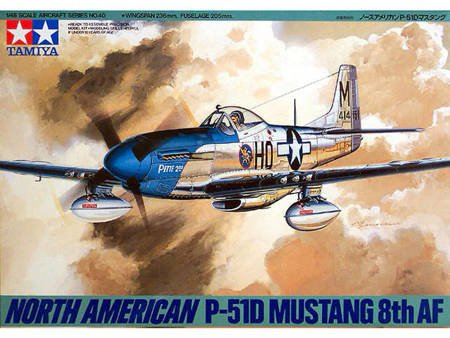 Tamiya 61040 1/48 Model do sklejania myśliwca North American P-51D Mustang 8th AF